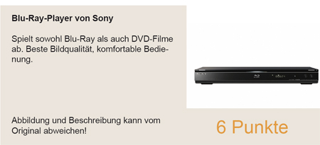 Blu Ray Player von Sony